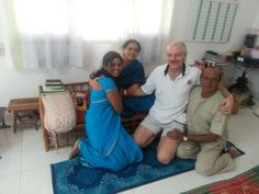 Me with Apurva, the organizer of my TTF workshops and Guru Mata Amma at her Ashram in Bangalore - India. Again one of her main devotees is on our far right.