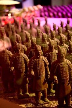 Sometimes you gotta fight for your Chocolate!  Love these Terracotta Warriors featured at the World Chocolate Wonderland in Shanghai's Himalaya Art Museum.