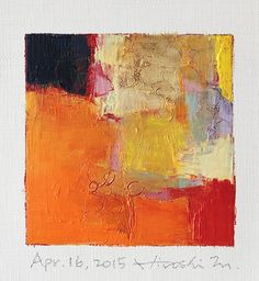 Apr. 16, 2015 - Original Abstract Oil Painting - 9x9 painting (9 x 9 cm - app. 4…                                                                                                                                                                                 More