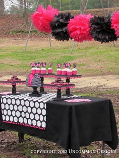 A Minnie Mouse Birthday Party { An Uncommon Event } - Uncommon Designs...@Sarah McKenna of Craft Quickies :not that you need help, but i always like to look...I'm so making those pompom thingies...