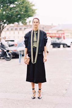 French model Aymeline Valade, before Loewe, Paris, September Superb. Recreate Aymeline's look (kind of): Acn.