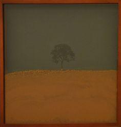 Espaço confinado - 47x47x5cm - Impressão de tinta mineral s papel algodão e terra - 2013