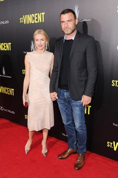 Naomi Watts and Liev Schreiber attend the premiere of ST. VINCENT, hosted by the Weinstein Company with Lexus on October 6, 2014 in New York City.
