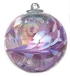 Magickal Ritual Sacred Tools: Lavender Lilly Iridized Witch Ball.