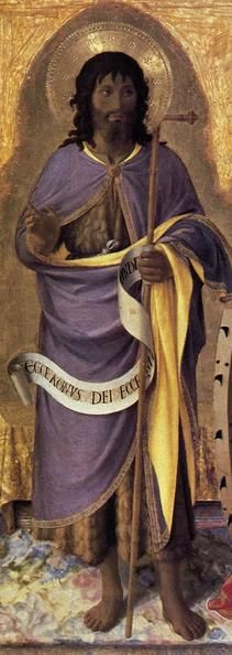 John the Baptist  Fra Angelico, Perugia Altarpiece, 1437  At the Edge of the Enclosure