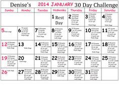 My January 2014 30 day challenge :)