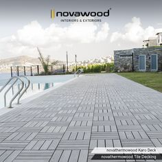 If you are looking for a classy, environmental friendly and durable material that is easy to install, dismantle, maintain and clean, novathermowood Tile Decking, produced from 100% natural materials, are just the right thing. #novawood #novathermowood #thermowood #thermallymodified #deck #decking #timber #architecture #construction #gardendesign #mimar #yapımalzemeleri #bodrum #constructionmaterials #sustainable #hospitality #hardwood #exterior #exteriordesign #pooldeck #wooddeck #wood…