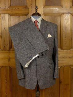 1930s 1940s Savile Row Tailored Brown H Bone Raglan Coat