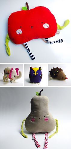 Oh Little Pear & Apple, you are too sweet!! Contemori handmade toys