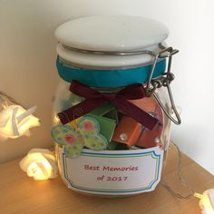 Fill it up with all of your favourite memories throughout the year! Graduation Party Centerpieces, Graduation Decorations, Best Memories, Memories Jar, Pain Quotes, Quotes Quotes, Graduation Gifts, Graduation Ideas, Graduation Quotes