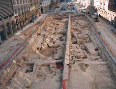 Excavación del paseo de la Independencia de Zaragoza en 2002.