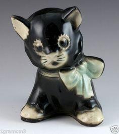 shawnee black kitten planter