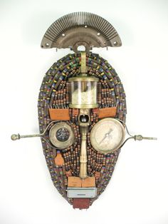 """""""Livingstone, I Presume"""" assemblage/sculpture of found vintage and antique objects by Assemblique™"""