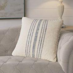 Stripe Linen Throw Pillow