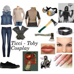 Ticci-Toby Cosplay Set by rythmicbeat on Polyvore featuring art