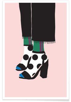 Polka Dot Socks in Heels by Linda Gobeta as Poster Polka Dot Socks, Polka Dots, Poster Online, Affordable Wall Art, Sock Shop, Fashion Line, Shop Now, Heels, Chevrons