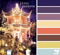 Midnight Lights colour palette