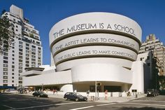 A Museum Is a School, 2011– . Site-specific installation, media variable, overall dimensions variable. Proposal rendering, digital photomontage. Solomon R. Guggenheim Museum, New York, Gift of the artist in honor of Simón Rodriguez on the occasion of the Guggenheim UBS MAP Global Art Initiative 2014.59
