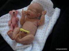 OOAK BABY GIRL ~ERIN~ clay sculpted baby girl newborn infant ooak doll