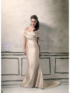 Silk Dupion Mermaid Strapless Soft Sweetheart Neckline Wedding Dress