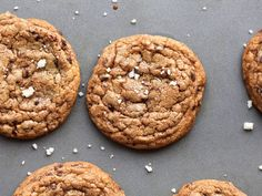 Chewy chocolate chip cookies with crisp edges, a rich, buttery, toffee-like flavor, big chocolate chunks, and a sprinkle of sea salt.