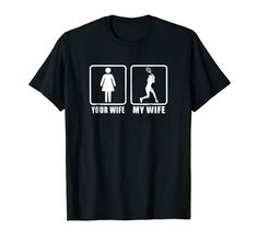 Mens Your Wife My Wife Spouse Husband Racquet Tennis T-Shirt Your Wife My Wife, Tennis Quotes, Branded T Shirts, Fashion Brands, Husband, Funny, Mens Tops, Stuff To Buy, Ha Ha