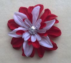 Valentines Bell Red Hair Flower Tabi's Creative Creatures Tabi's Elegant Hair Pieces by TabiCreativeCreature on Etsy