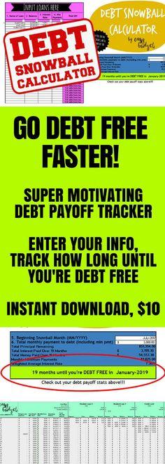 unbury to do Pinterest Debt - get out of debt spreadsheet