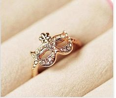 Woman Fashion | Free Shipping Bohemia Fox Rhinestone Ring Gold | Online Store Powered by Storenvy