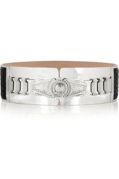 Balmain|Woven leather waist belt |NET-A-PORTER.COM