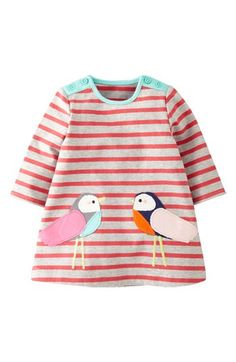 Mini Boden Stripe Jersey Dress (Baby Girls) available at #Nordstrom