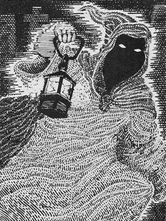 Ghosts are the spirits of evil humans that roam about at night or in places of darkness. (Dave Trampier from the AD&D Monster Manual, TSR, 1977.)
