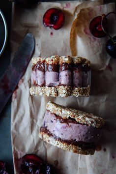 This Rawsome Vegan Life: CHOCOLATE CHERRY ICE CREAM SANDWICHES