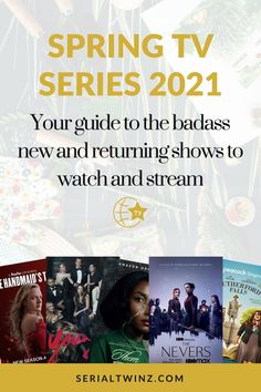 Hey Serial Fans and welcome to the Spring TV Series 2021: Your Guide To The Badass New And Returning Shows. In this guide, we are recommending you the best TV series to watch and stream this Spring. And in the Spring TV series 2021 guide, we have selected only the best badass new and returning shows premiering or released in April 2021. We selected fantasy, comedy, drama. action, dramedy, and more series. #TVSeries #TVShows #BestTVShows #ShowsToWatch Tv Series To Watch, Book Series, Laura Donnelly, Jean Smart, Ally Mcbeal, Comedy Tv Shows, Famous In Love, Drama Tv, Fantasy Tv