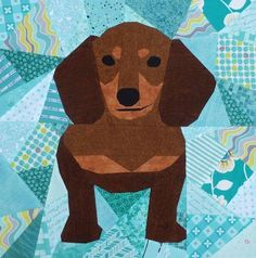 Image result for Paper pieced dachshund quilt