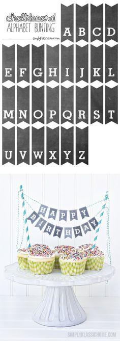alfabeto stampabile