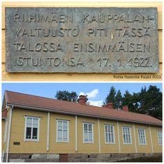Riihimäen kauppalanvaltuuston ensimmäinen istunto 17.1.1922. Lopentie, Riihimäki. Kuvat: Susanna Kuusi