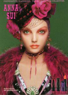 Anna Sui Cosmetics ad campaign.