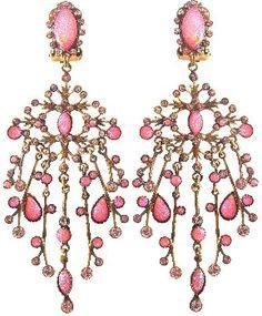 Bild für Ohrring Clip baumelnd Filigree pink