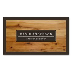 Professional Modern Wood Grain Look Business Cards