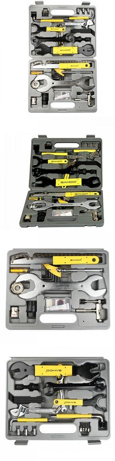 Other Bike Maintenance and Tools 177848: Hot 44Pc Multi-Function Bike Bicycle Home Mechanic Tool Repair Kit Set With Case -> BUY IT NOW ONLY: $69.08 on eBay!