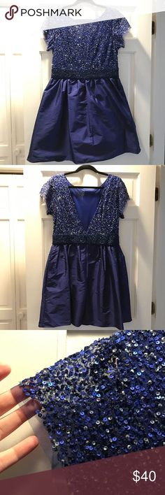 Awesome Cocktail Dresses Blue Dress Flirty and fun blue sequin dress with sheer cap sleeves and a deep V ... Check more at https://24store.ml/fashion/cocktail-dresses-blue-dress-flirty-and-fun-blue-sequin-dress-with-sheer-cap-sleeves-and-a-deep-v/