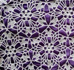 Вязание платья из круглых мотивов