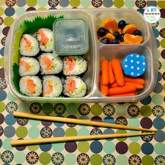 Homemade sushi bento lunch for an adult in EasyLunchBoxes!