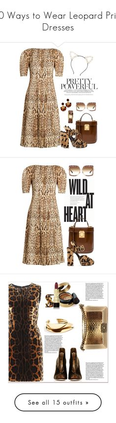 """""""10 Ways to Wear Leopard Print Dresses"""" by polyvore-editorial ❤ liked on Polyvore featuring LeopardPrint, waystowear, ADAM, Mark Cross, Tory Burch, Dita, GUESS, Prada, tfp and dresses"""