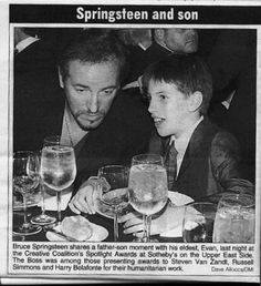 Bruce and Evan Springsteen