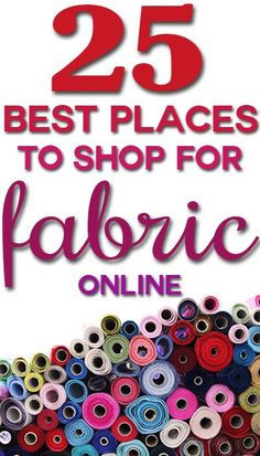 Awesome list of the 25 BEST places to shop for home decor fabric online, plus tips on how to buy!: Awesome list of the 25 BEST places to shop for home decor fabric online, plus tips on how to buy! Sewing Projects For Beginners, Sewing Tutorials, Sewing Hacks, Sewing Patterns, Sewing Tips, Diy Projects, Serger Projects, Free Sewing, Fabric Patterns