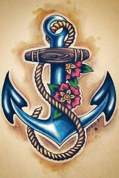 Sailor Jerry Anchor Tattoo // My Favorite Anchor By Far! Future Tattoos, Love Tattoos, Body Art Tattoos, Tattoos 2014, Sailor Jerry, Tattoo Motive, I Tattoo, Tattoo Flash, Tattoo Cake