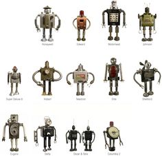 Robots from recycled stuff!