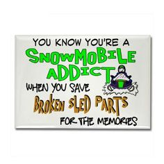 Sled Parts Memories Rectangle Magnet